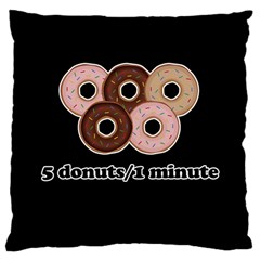 Five Donuts In One Minute  Large Cushion Case (one Side) by Valentinaart