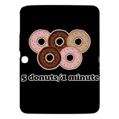 Five Donuts In One Minute  Samsung Galaxy Tab 3 (10 1 ) P5200 Hardshell Case