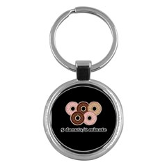 Five Donuts In One Minute  Key Chains (round)  by Valentinaart