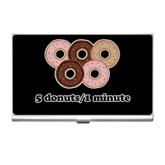 Five Donuts In One Minute  Business Card Holders by Valentinaart
