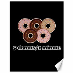 Five Donuts In One Minute  Canvas 36  X 48   by Valentinaart