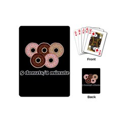 Five Donuts In One Minute  Playing Cards (mini)  by Valentinaart