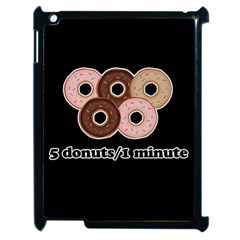 Five Donuts In One Minute  Apple Ipad 2 Case (black) by Valentinaart