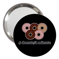 Five Donuts In One Minute  3  Handbag Mirrors by Valentinaart