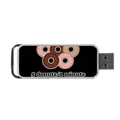 Five Donuts In One Minute  Portable Usb Flash (two Sides) by Valentinaart