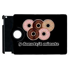 Five Donuts In One Minute  Apple Ipad 3/4 Flip 360 Case by Valentinaart
