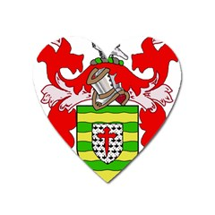 County Donegal Coat Of Arms Heart Magnet by abbeyz71