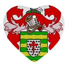 County Donegal Coat Of Arms Heart Ornament (two Sides) by abbeyz71