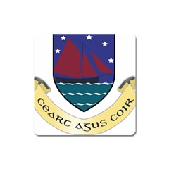 Coat Of Arms Of County Galway  Square Magnet