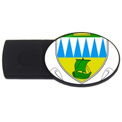 Coat Of Arms Of County Kerry  Usb Flash Drive Oval (2 Gb) by abbeyz71