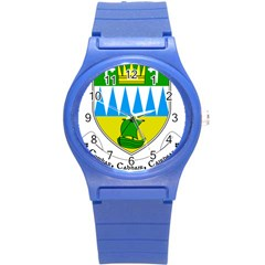 Coat Of Arms Of County Kerry  Round Plastic Sport Watch (s) by abbeyz71