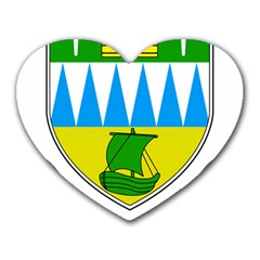 Coat Of Arms Of County Kerry Heart Mousepads by abbeyz71