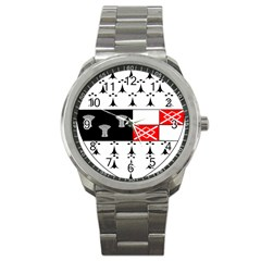 County Kilkenny Coat Of Arms Sport Metal Watch