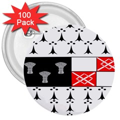 County Kilkenny Coat Of Arms 3  Buttons (100 Pack)  by abbeyz71