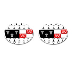 County Kilkenny Coat Of Arms Cufflinks (oval) by abbeyz71