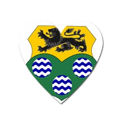 County Leitrim Coat Of Arms Heart Magnet by abbeyz71
