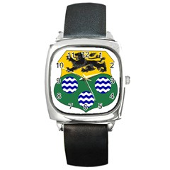 County Leitrim Coat Of Arms Square Metal Watch by abbeyz71