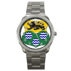 County Leitrim Coat Of Arms Sport Metal Watch