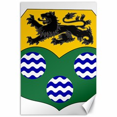 County Leitrim Coat Of Arms Canvas 24  X 36  by abbeyz71