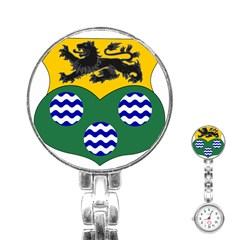 County Leitrim Coat Of Arms  Stainless Steel Nurses Watch by abbeyz71