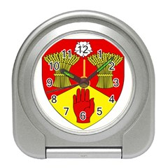 County Londonderry Coat Of Arms Travel Alarm Clocks by abbeyz71