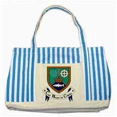 County Meath Coat Of Arms Striped Blue Tote Bag by abbeyz71