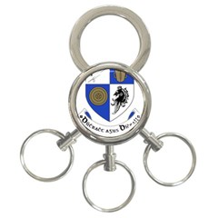 County Monaghan Coat Of Arms  3 Ring Key Chains by abbeyz71