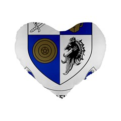 County Monaghan Coat Of Arms  Standard 16  Premium Heart Shape Cushions by abbeyz71