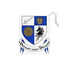 County Monaghan Coat Of Arms  Drawstring Pouches (small)  by abbeyz71
