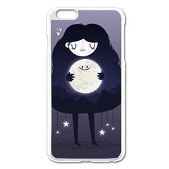 Moon Apple Iphone 6 Plus/6s Plus Enamel White Case by Mjdaluz