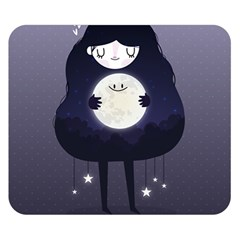 Moon Double Sided Flano Blanket (small)  by Mjdaluz