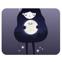 Moon Double Sided Flano Blanket (medium)  by Mjdaluz