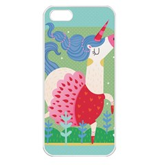 Unicorn Apple Iphone 5 Seamless Case (white) by Mjdaluz