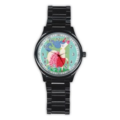 Unicorn Stainless Steel Round Watch