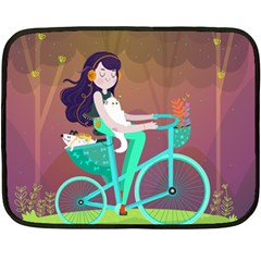 Bikeride Double Sided Fleece Blanket (mini)  by Mjdaluz