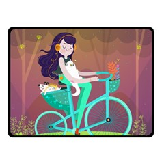 Bikeride Fleece Blanket (small) by Mjdaluz
