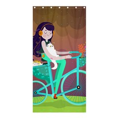 Bikeride Shower Curtain 36  X 72  (stall)  by Mjdaluz