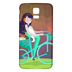 Bikeride Samsung Galaxy S5 Back Case (white)