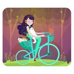 Bikeride Double Sided Flano Blanket (small)  by Mjdaluz