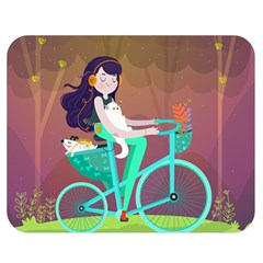 Bikeride Double Sided Flano Blanket (medium)  by Mjdaluz