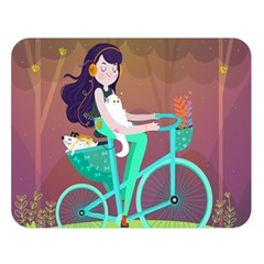Bikeride Double Sided Flano Blanket (large)  by Mjdaluz
