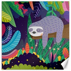 Sloth In Nature Canvas 12  X 12   by Mjdaluz