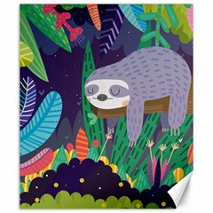 Sloth In Nature Canvas 20  X 24   by Mjdaluz