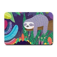 Sloth In Nature Small Doormat  by Mjdaluz