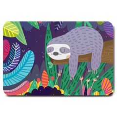 Sloth In Nature Large Doormat  by Mjdaluz