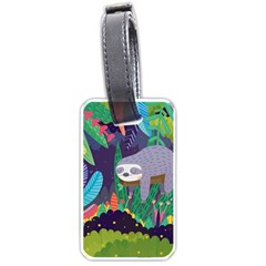 Sloth In Nature Luggage Tags (one Side)  by Mjdaluz
