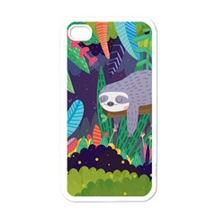 Sloth In Nature Apple Iphone 4 Case (white) by Mjdaluz