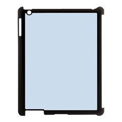 Pastel Color   Light Azureish Gray Apple Ipad 3/4 Case (black) by tarastyle