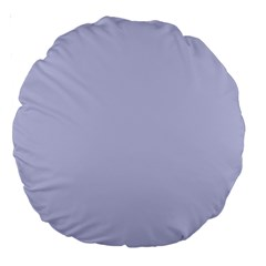 Pastel Color   Light Bluish Gray Large 18  Premium Round Cushions by tarastyle