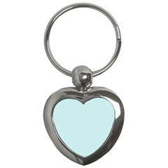 Pastel Color   Light Cyanish Gray Key Chains (heart)